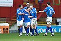 ST JOHNSTONE'S JODY MORRIS CELEBRATES AFTER HE SCORES ST JOHNSTONE'S FIRST