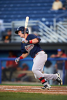 Lowell Spinners outfielder Tate Matheny (11) at bat during a game against the Batavia Muckdogs on August 12, 2015 at Dwyer Stadium in Batavia, New York.  Batavia defeated Lowell 6-4.  (Mike Janes/Four Seam Images)