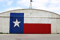 Texas Lone Star Flag on Airport Hanger in Austin, Texas, USA No. 5
