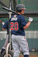 Atlanta Braves minor leaguer Mark Jurich during Spring Training at Disney's Wide World of Sports on March 14, 2007 in Orlando, Florida.  (Mike Janes/Four Seam Images)