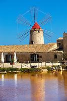 Nubia Salt Museum, Trapani Sicily. travel stock photos
