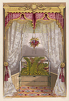 Wardian case containing ferns used as window decoration. / Cassell's Household Guide volume 4 page 1 / circa 1875