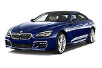 2015 BMW 6 Series M Sport 2 Door Coupe angular front stock photos of front three quarter view