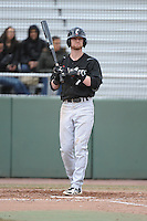 Cincinnati Bearcats outfielder Forrest Perron (7) during 1st game of double header against the St. John's Redstorm at Jack Kaiser Stadium on March 28, 2013 in Queens, New York. St. John's defeated Cincinnati 6-5.      . (Tomasso DeRosa/ Four Seam Images)