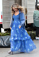 OCT 22 Sarah Jessica Parker on the set of 'And Just Like That'