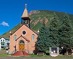 Silverton, Colorado<br /> Saint Patrick church in the historic mining town of Silverton