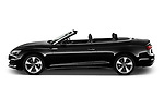 Car Driver side profile view of a 2021 Audi A5-Cabriolet Avus 2 Door Convertible Side View