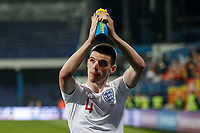 Declan Rice of England celebrates after the UEFA Euro 2020 Qualifying Group A match  <br /> Podgorica 25-3-2019 <br /> Football Euro2020 Qualification Montenegro - England <br /> Foto Daniel Chesterton / PHC / Insidefoto <br /> ITALY ONLY