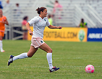St Louis Athletica forward Kerri Hanks (2) carries the ball during a WPS match at Anheuser-Busch Soccer Park, in St. Louis, MO, June 7, 2009. Athletica won the match 1-0.