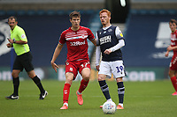 Ryan Woods of Millwall and Paddy McNair of Middlesbrough during Millwall vs Middlesbrough, Sky Bet EFL Championship Football at The Den on 8th July 2020