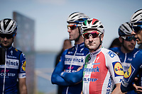 Elia Viviani (ITA/Deceuninck-QuickStep) at the race start in Orbetello (where he was relagated from winning the stage teh day before)<br /> <br /> Stage 4: Orbetello to Frascati (228km)<br /> 102nd Giro d'Italia 2019<br /> <br /> ©kramon