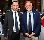 VINCENZO SPADAFORA E MASSIMO GARAVAGLIA<br /> RICEVIMENTO 14 LUGLIO 2021 AMBASCIATA DI FRANCIA<br /> PALAZZO FARNESE ROMA