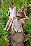 Alice & Charlotte Riding Elephant