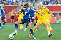 WINNIPEG, MANITOBA, CANADA - June 8, 2015: The Woman's World Cup US Women's National Team vs Sweden match at Winnipeg Stadium . Final score, USA 0, Sweden 0.