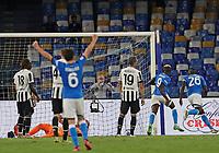 11th September 2021; Maradona Stadium, Naples, Italy; Serie A football, SSC Napoli versus Juventus  FC: Mario Rui of Napoli celebrates after scoring his goal for 2-1 in the 85th minute
