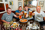 Tim Cronin, Jamie O'Sullivan, Patrick Carey and Brendan O'Shea, all Killorglin in Bunkers bar for Puck Fair on Tursday.