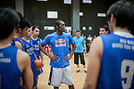 NBA's player and Red Bull athlete Rajon Rondo conducts a clinic as part of his Asia Tour at the Ronac Art Center on August 28, 2012 in Manila, Philippines. Photo by Victor Fraile / The Power of Sport Images