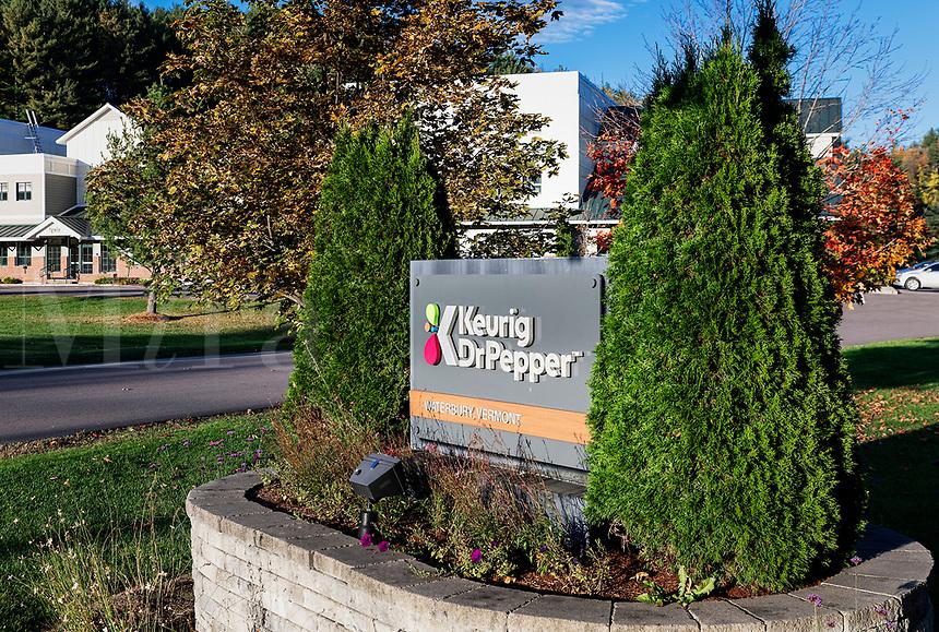 Keurig Dr Pepper corporate headquarters, Waterbury, Vermont, USA.
