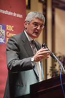 March 5,2007, Montreal (QC), CANADA<br /> <br /> FERDINANDO BECCALLI-FALCO, GE INTERNATIONAL PRESIDENT AND CHIEF EXECUTIVE OFFICER speak about<br /> GLOBAL BUSINESS TRENDS - THE IMPACT OF EMERGING ECONOMIES ,<br /> AT THE CANADIAN CLUB OF MONTREAL'S PODIUM,March 5,2007<br /> <br /> Photo : (c) 2007 Pïerre Roussel -  Images Distribution