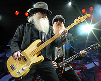 MAY 8: Dusty Hill and Billy Gibbons of ZZ Top perform at Chastain Park Amphitheatre in Atlanta on May 8, 2010. CREDIT: Chris McKay / MediaPunch