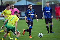Scott Midgely during the Central League football match between Miramar Rangers and Lower Hutt AFC at David Farrington Park in Wellington, New Zealand on Saturday, 10 April 2021. Photo: Dave Lintott / lintottphoto.co.nz