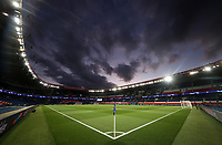 11th March 2020, Parc des Princes, Paris, France; Champions League - Round of 16 Second Leg - Paris St Germain versus Borussia Dortmund;  General view inside the stadium before the match which will be played behind closed doors due to the corona virus cases scare