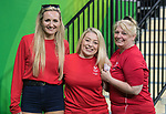 Welsh fans in good sprits at the Wrestling <br /> <br /> *This image must be credited to Ian Cook Sportingwales and can only be used in conjunction with this event only*<br /> <br /> 21st Commonwealth Games - Wrestling  - Final -  Day 9 - 13\04\2018 - Carrara Sport and Leisure Centre - Gold Coast City - Australia