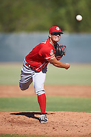 Cincinnati Reds pitcher Connor Bennett (62) during an Instructional League game against the Milwaukee Brewers on October 14, 2016 at the Maryvale Baseball Park Training Complex in Maryvale, Arizona.  (Mike Janes/Four Seam Images)