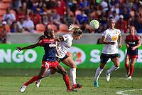 Houston, TX - Sunday Oct. 09, 2016: Francisca Ordega, Abigail Dahlkemper during the National Women's Soccer League (NWSL) Championship match between the Washington Spirit and the Western New York Flash at BBVA Compass Stadium.