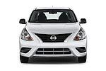 Car photography straight front view of a 2015 Nissan Versa 1.6 Sv Cvt 4 Door Sedan