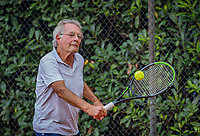 Hilversum, The Netherlands,  August 18, 2020,  Tulip Tennis Center, NKS, National Senior Championships, Men's single 75+ , Niels Menko (NED) <br /> Photo: www.tennisimages.com/Henk Koster
