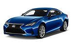 2019 Lexus RC 350 2 Door Coupe angular front stock photos of front three quarter view