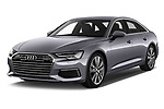 2019 Audi A6 Design 4 Door Sedan angular front stock photos of front three quarter view