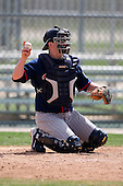 March 18, 2010:  Catcher Tobias Streich (50) of the Minnesota Twins organization during Spring Training at the Ft. Myers Training Complex in Ft. Myers, FL.  Photo By Mike Janes/Four Seam Images