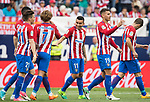 Angel Correa (C) of Atletico de Madrid celebrates his goal with his teammates during their La Liga match between Atletico de Madrid vs Athletic de Bilbao at the Estadio Vicente Calderon on 21 May 2017 in Madrid, Spain. Photo by Diego Gonzalez Souto / Power Sport Images
