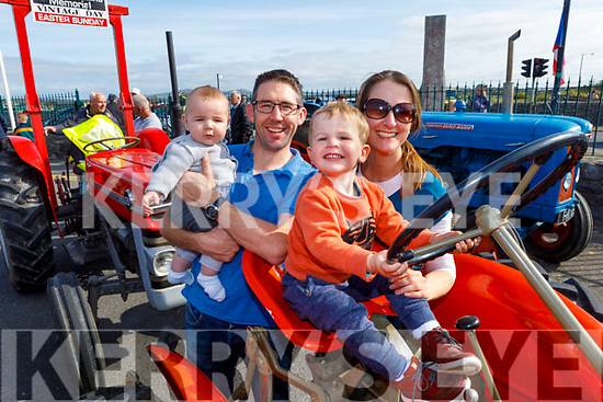 Brian, Eanna, Tadhg and Diane Looby at the Blennerville Tractor Run Into the West fundraiser for Kerry Hospice on Sunday.