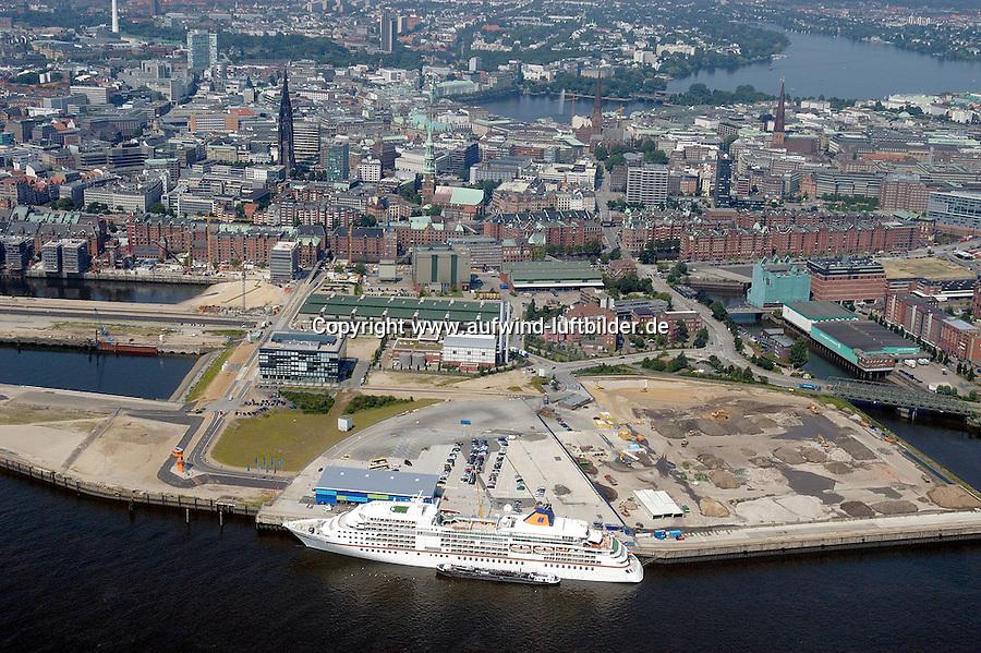 Deutschland, Hamburg, Speicherstadt, Hafencity, Kreuzfahrtterminal, Hapag- Lloyd, Europa