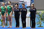(L to R) <br /> Masako Kaneko, <br />  Masayo Imura, <br /> Miho Yoshida (JPN), <br /> AUGUST 10, 2014 - Synchronised Swimming : <br /> Japan Synchro Challenge Cup 2014 <br /> Exhibition <br /> at Tatsumi International Swimming Pool, Tokyo, Japan. <br /> (Photo by YUTAKA/AFLO SPORT)