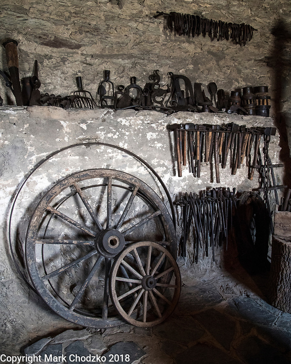 Marksburg Castle, Germany. Blacksmith shop