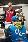 Mark Arendz, Sochi 2014.<br /> Team Canada arrives at the airport in Sochi for the Sochi 2014 Paralympic Winter // Équipe Canada arrive à l'aéroport de Sotchi pour Sochi 2014 Jeux paralympiques d'hiver. 04/03/2014.