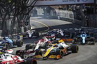 23rd May 2021; Principality of Monaco; F1 Grand Prix of Monaco,   Race Day;  03 RICCIARDO Daniel aus, McLaren MCL35M, action and 07 RAIKKONEN Kimi fin