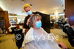 Nora Hayes having her hair done by Subrina O'Regan at Peter Mark Hair Salon in Tralee.