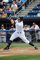 Staten Island Yankees infielder Saxon Butler (43) during game against the Hudson Valley Renegades at Richmond County Bank Ballpark at St.George on June 24, 2012 in Staten Island, NY.  Staten Island defeated Hudson Valley 9-1.  Tomasso DeRosa/Four Seam Images