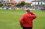 Shildon manager Gary Forrest looks to the ground as his team concede a soft goal. Whitby Town 3 Shildon 2, FA CUP 1st Round Qualifying, 15th September 2007.