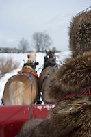 Amérique/Amérique du Nord/Canada/Québec/ Québec:  Promenade en  traineau   sur  les Plaines d'Abraham