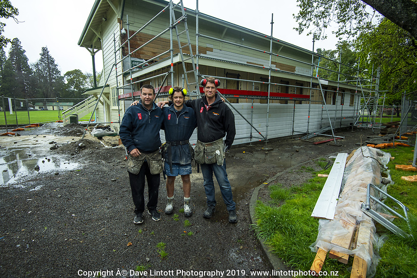 The cricket pavillion at Queen Elizabeth Park in Masterton, New Zealand on Wednesday, 16 October 2019. Photo: Dave Lintott / lintottphoto.co.nz