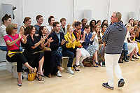 Dame Dacrcy Bussell, Ellie Bamber, Dame Kristin Scott Thomas, Charity Wakefield and Jasper Conran<br /> front row at the Jasper Conran London Fashion Week SS18 catwalk show, London<br /> <br /> ©Ash Knotek  D3431  15/09/2018