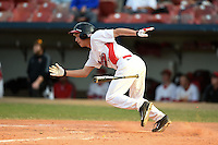 Illinois State Redbirds Jared Hendren (19) during a game against the Bowling Green Falcons on March 11, 2015 at Chain of Lakes Stadium in Winter Haven, Florida.  Illinois State defeated Bowling Green 8-7.  (Mike Janes/Four Seam Images)