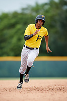 Pittsburgh Pirates Jean Eusebio (6) running the bases during an Instructional League intrasquad black and gold game on October 3, 2017 at Pirate City in Bradenton, Florida.  (Mike Janes/Four Seam Images)