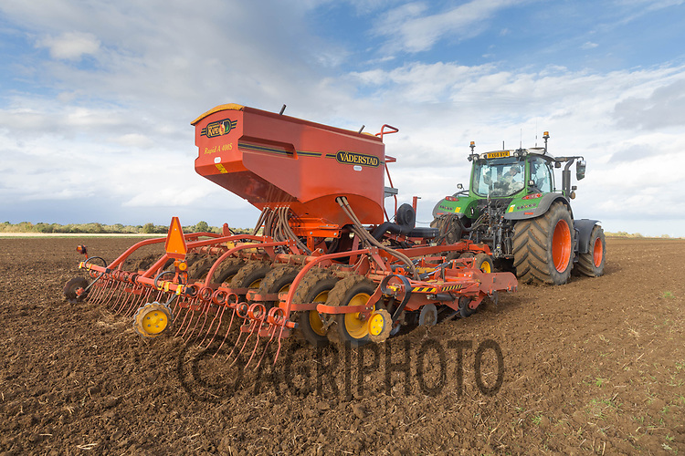 4-10-2021 Drilling Winter barley in Langtoft Fen, Lincolnshire <br /> ©Tim Scrivener Photographer 07850 303986<br />      ....Covering Agriculture In The UK....